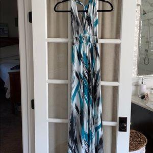 Aqua Maxi Dress, Like New, Size Medium.
